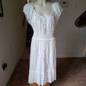 Studio West Apparel White Peasant Dress